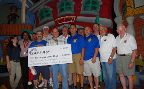 ", Patchogue Lions Club Hosts ""Christmas in June"" for Local School Children at Boomer's Family Fun Center"