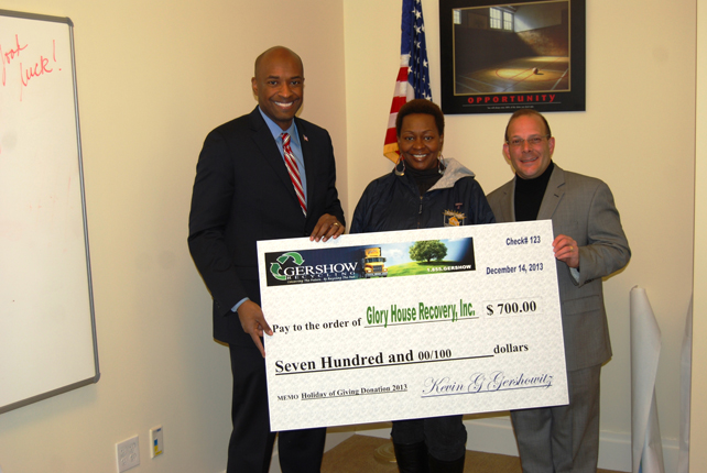, Glory House Recovery, Inc. Receives 0  Donation from Gershow