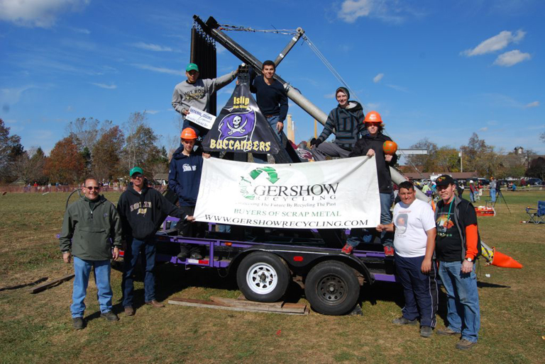 , Gershow Recycling Supports Islip High School Catapult Team