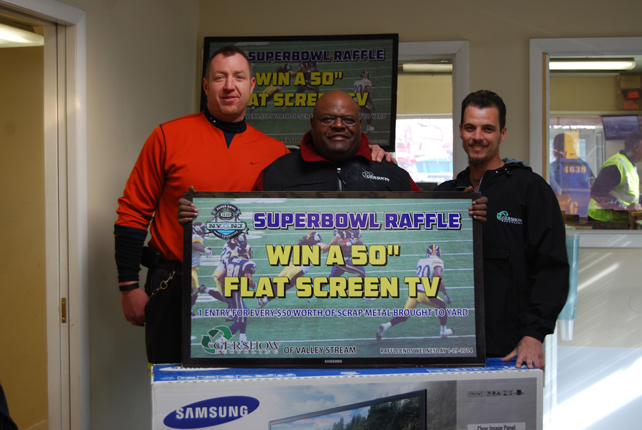 , Gershow Recycling Announces Winner of Super Bowl Raffle