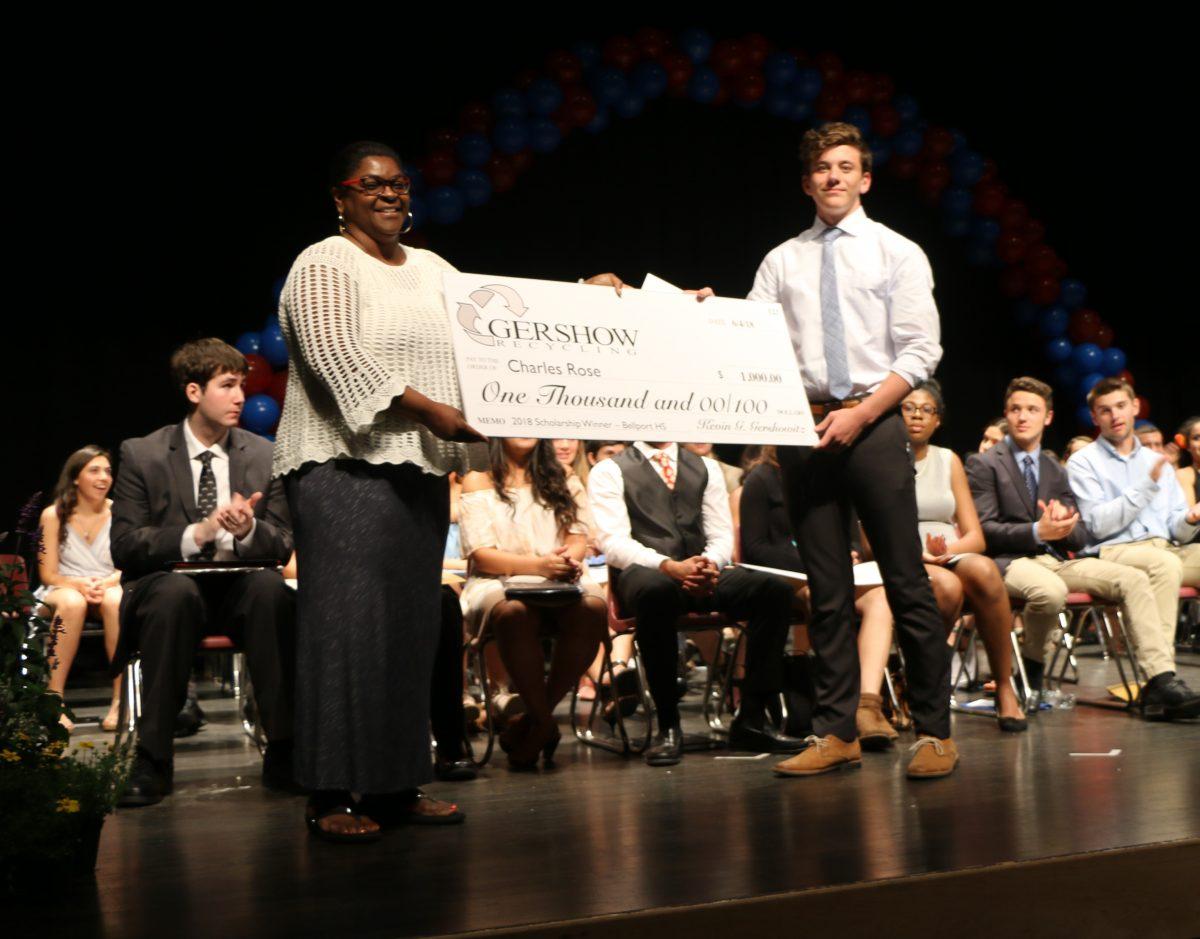 , Gershow Recycling Grants Environmental Conservation Scholarship to Bellport High School Graduating Senior Charles Rose
