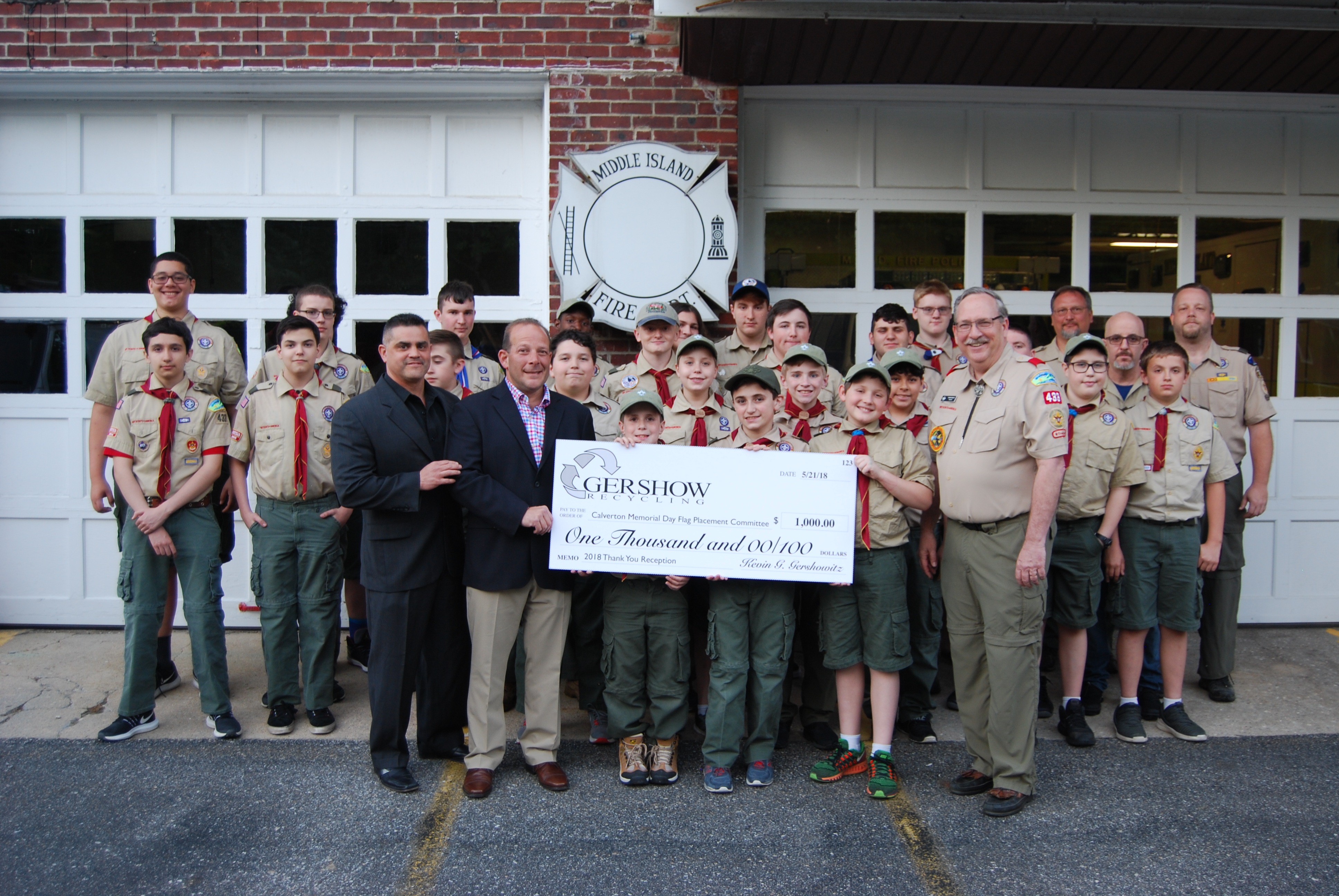 , Gershow Recycling Supports Boy Scout Leader's Memorial Day Flag Placement Committee
