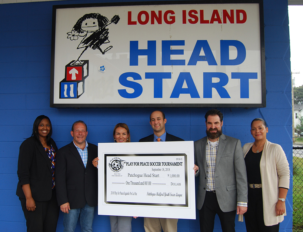 Play for Peace Sponsors Present Long Island Head Start in Patchogue with $1,000 Donation