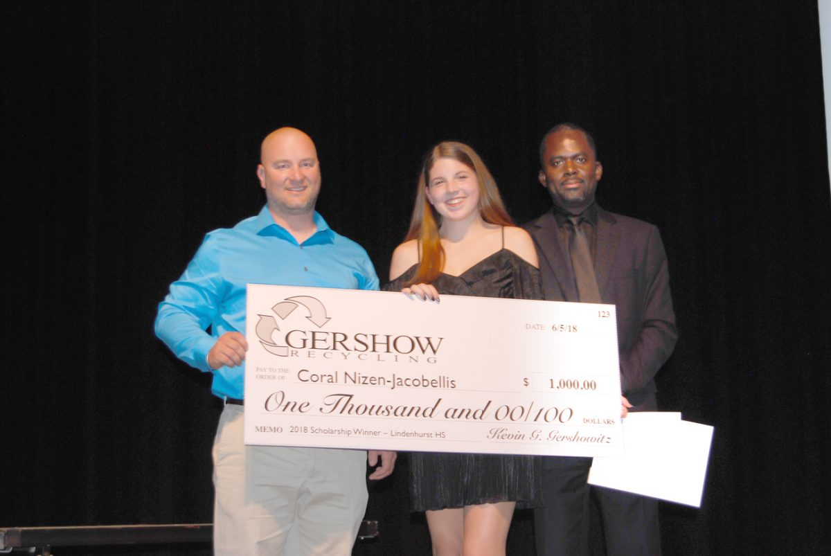 Gershow Recycling Grants Environmental Conservation Scholarship to Lindenhurst High School Graduating Senior Coral Nizen-Jacobellis