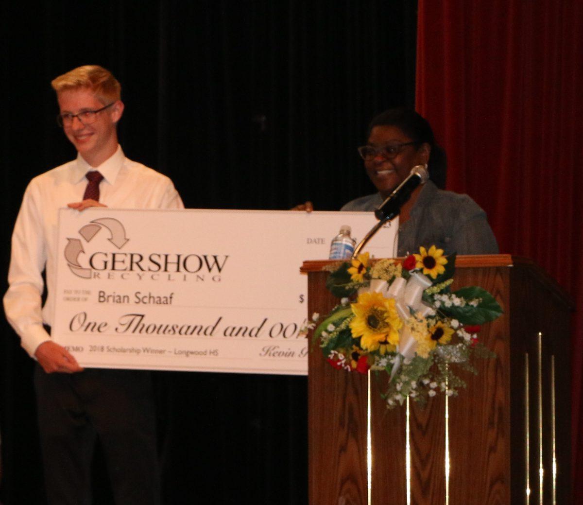 Gershow Recycling Grants Environmental Conservation Scholarship to Longwood High School Graduating Senior Brian Schaaf