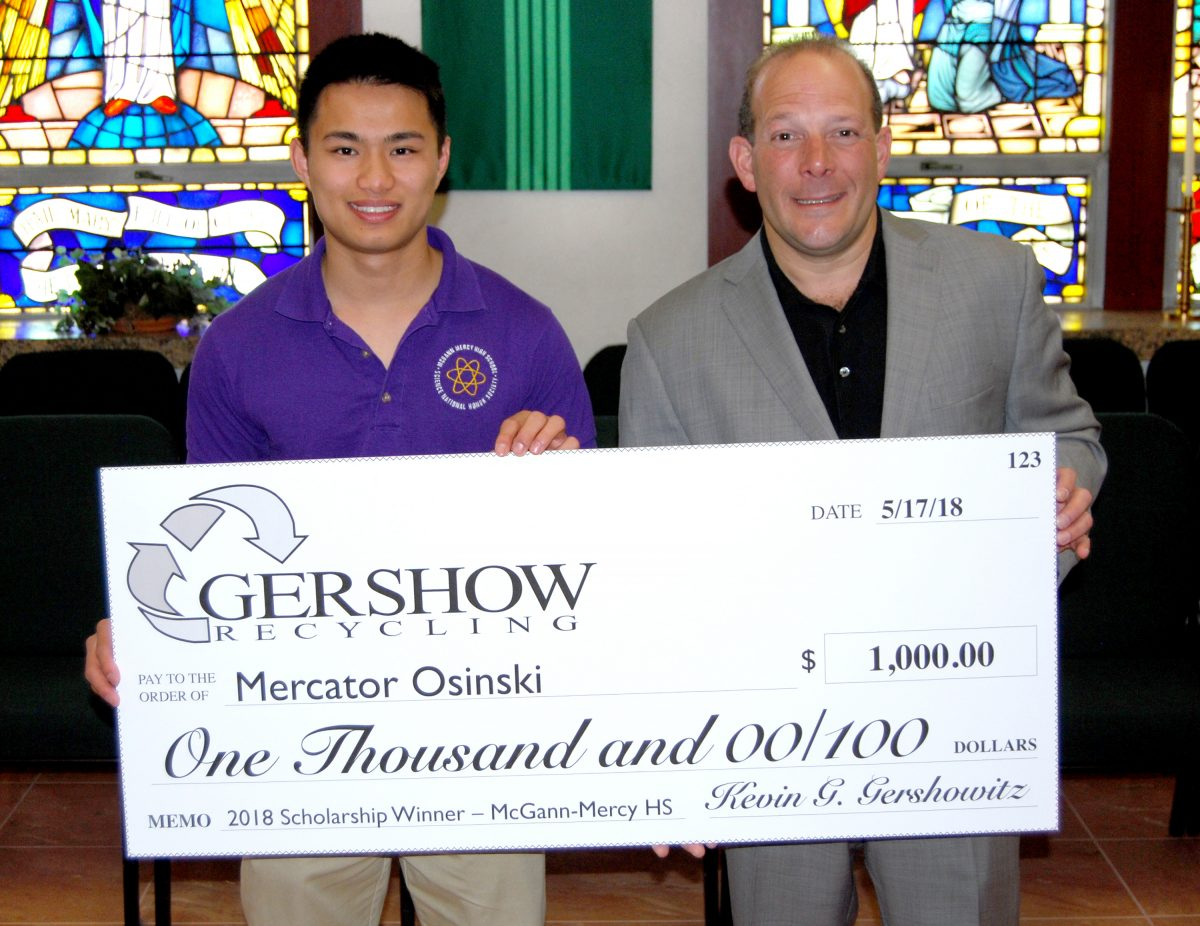 Gershow Recycling Continues to Offer Graduating High School Seniors the Environmental Conservation Scholarship