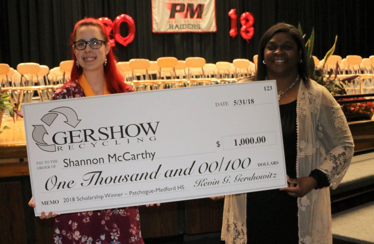 , Gershow Recycling Grants Environmental Conservation Scholarship to Patchogue-Medford High School Graduating Senior Shannon McCarthy