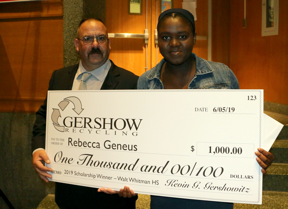 Gershow Recycling Grants Environmental Conservation Scholarship to Walt Whitman High School Graduating Senior Rebecca Geneus