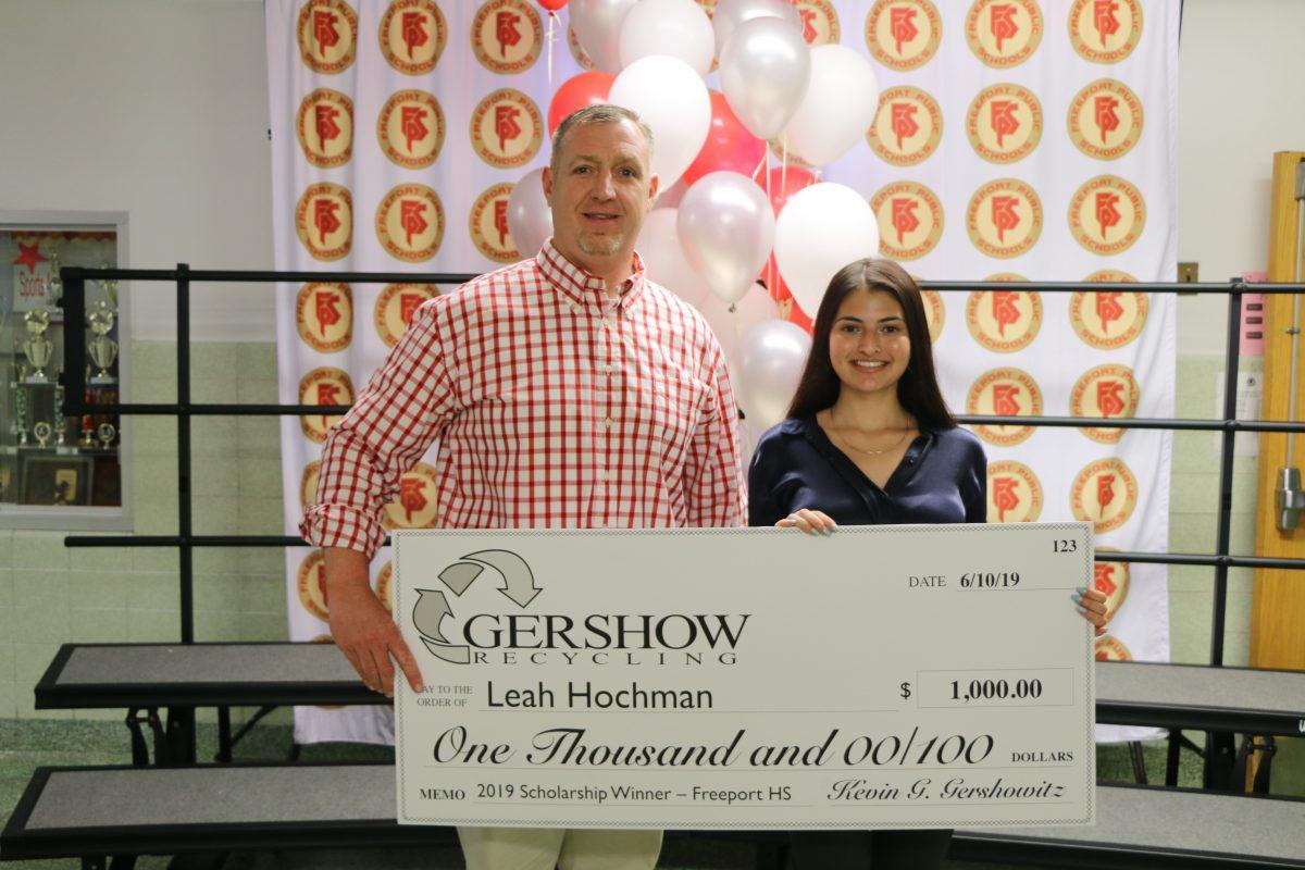Gershow Recycling Grants Environmental Conservation Scholarship to Freeport High School Graduating Senior Leah Hochman