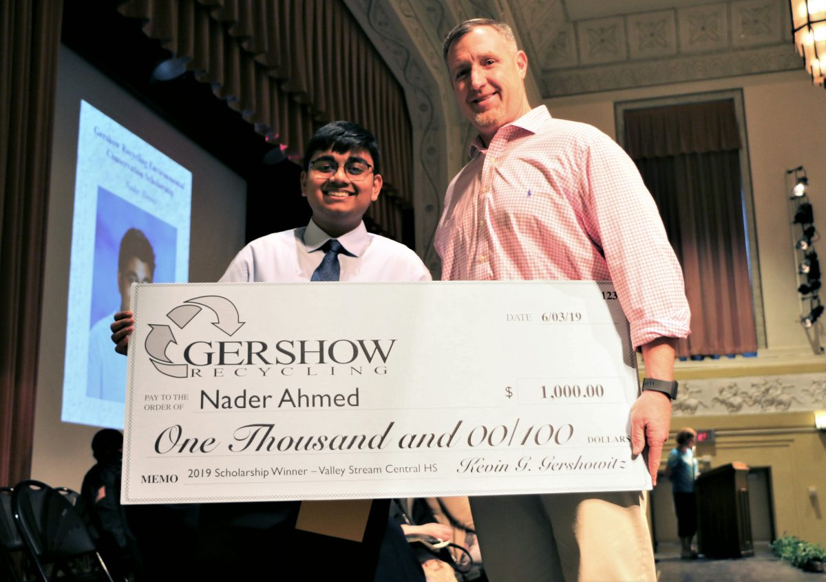 Gershow Recycling Grants Environmental Conservation Scholarship to Valley Stream High School Graduating Senior Nader Ahmed