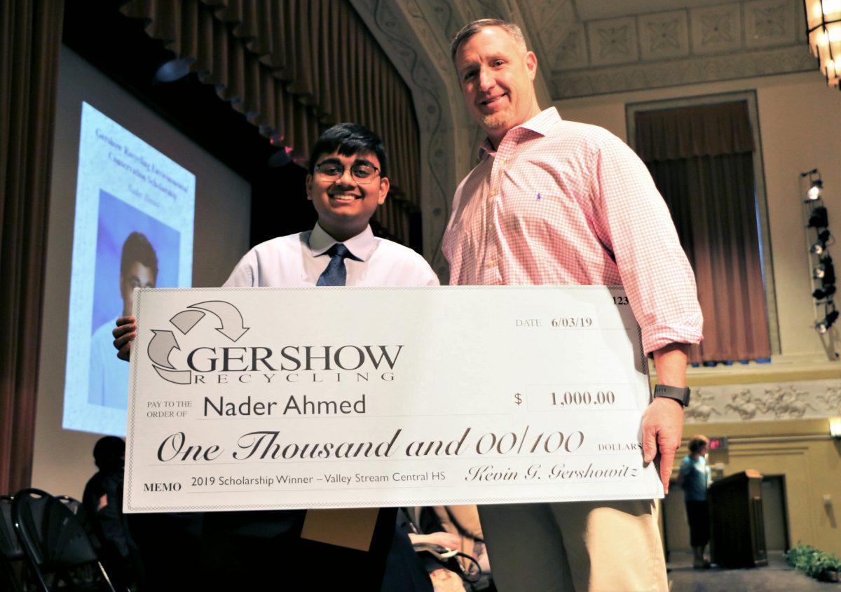 Gershow Recycling Grants Environmental Conservation Scholarship to Valley Stream High School Graduating Senior Nader Ahmed
