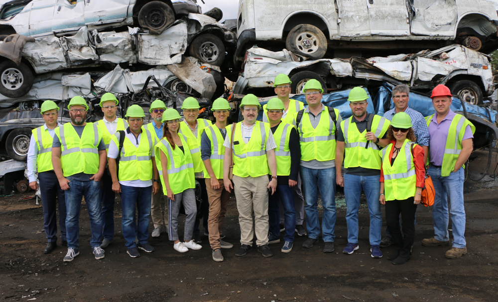 Gershow Recycling Hosts International Visitors for a Tour of the Medford Facility